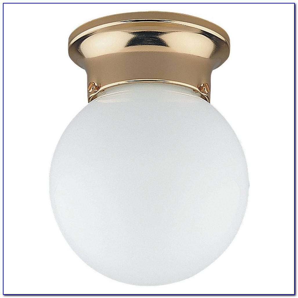 Glass Globe Ceiling Light Fixture
