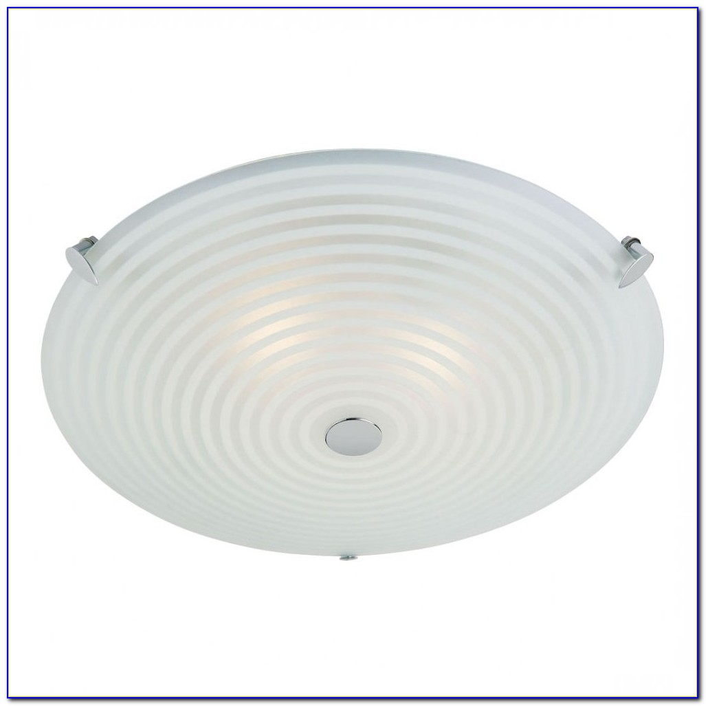 Glass Semi Flush Mount Ceiling Light