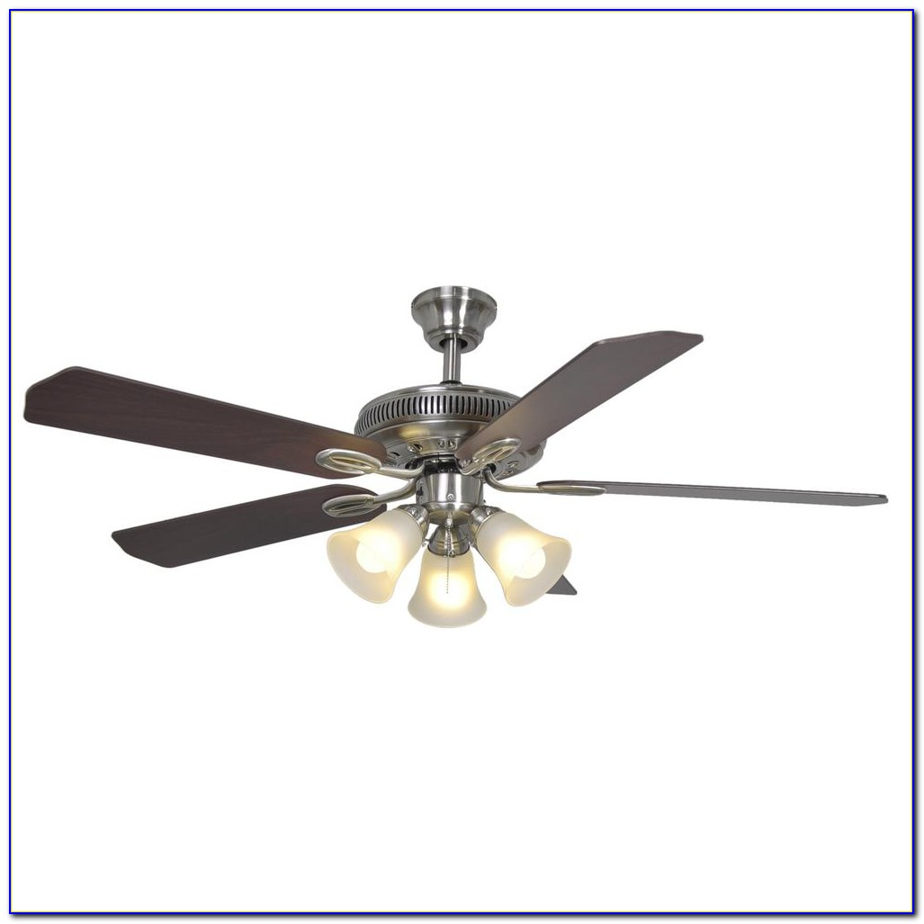 Hampton Bay Altura Ceiling Fan Brushed Nickel
