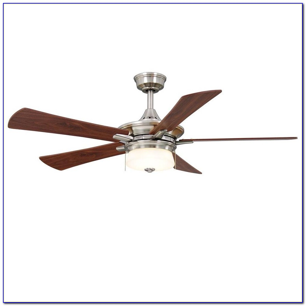 Hampton Bay Brookedale 60 Ceiling Fan Brushed Nickel