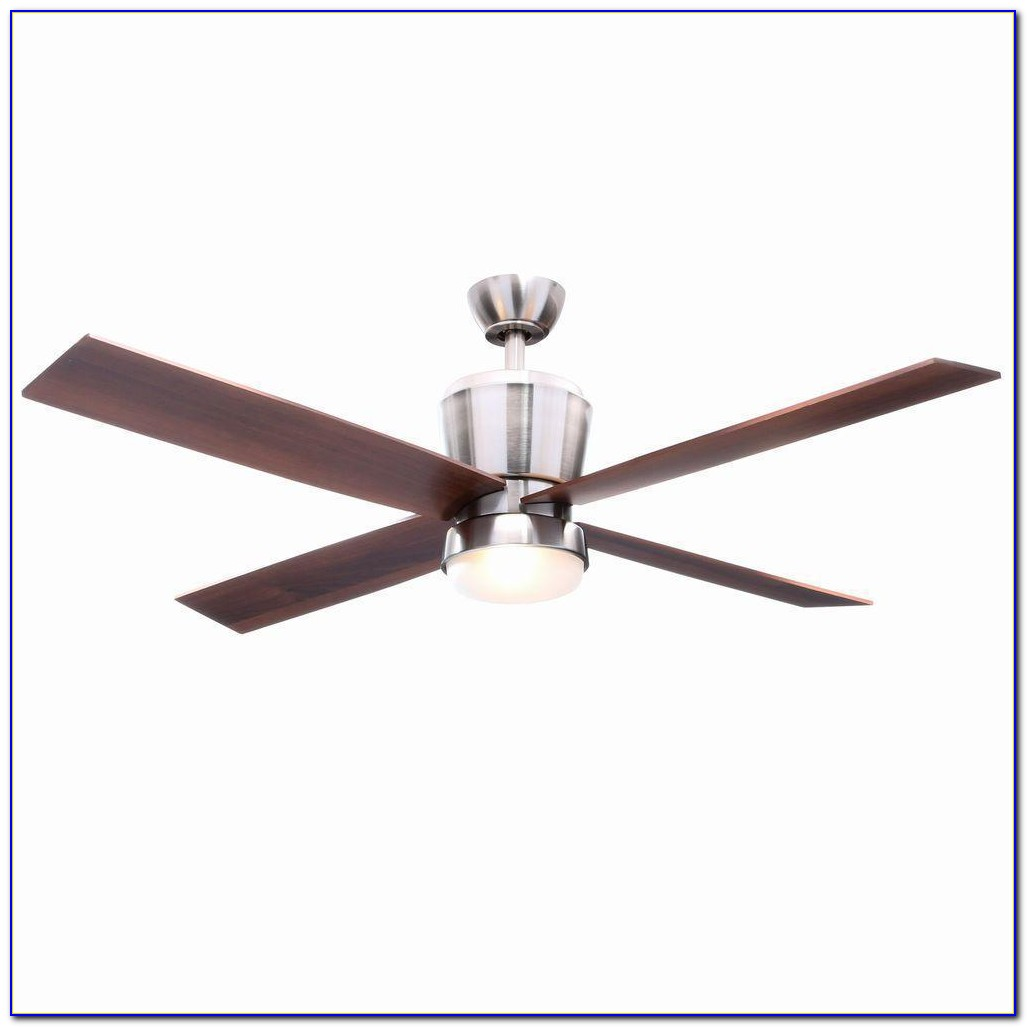 Hampton Bay Brushed Nickel Ceiling Fan With Remote