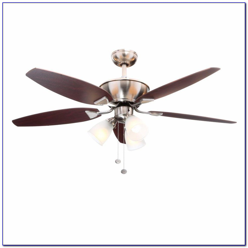 Hampton Bay Ceiling Fan Brushed Nickel
