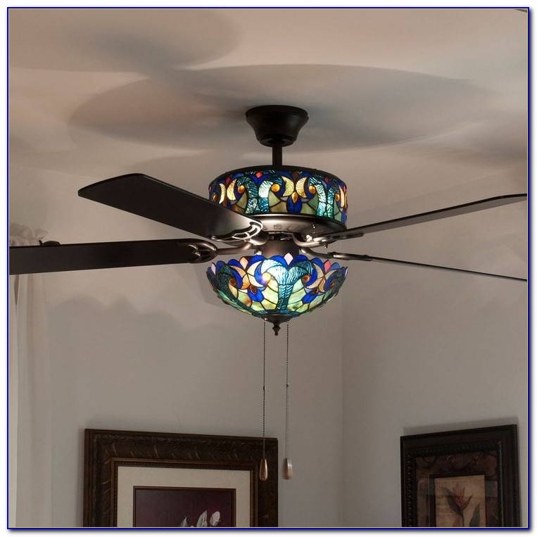 Hampton Bay Ceiling Fans With Stained Glass