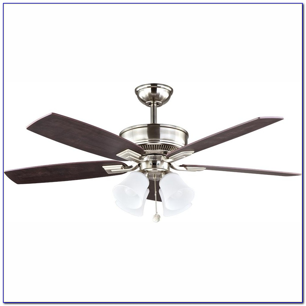 Hampton Bay Farmington Ceiling Fan Brushed Nickel