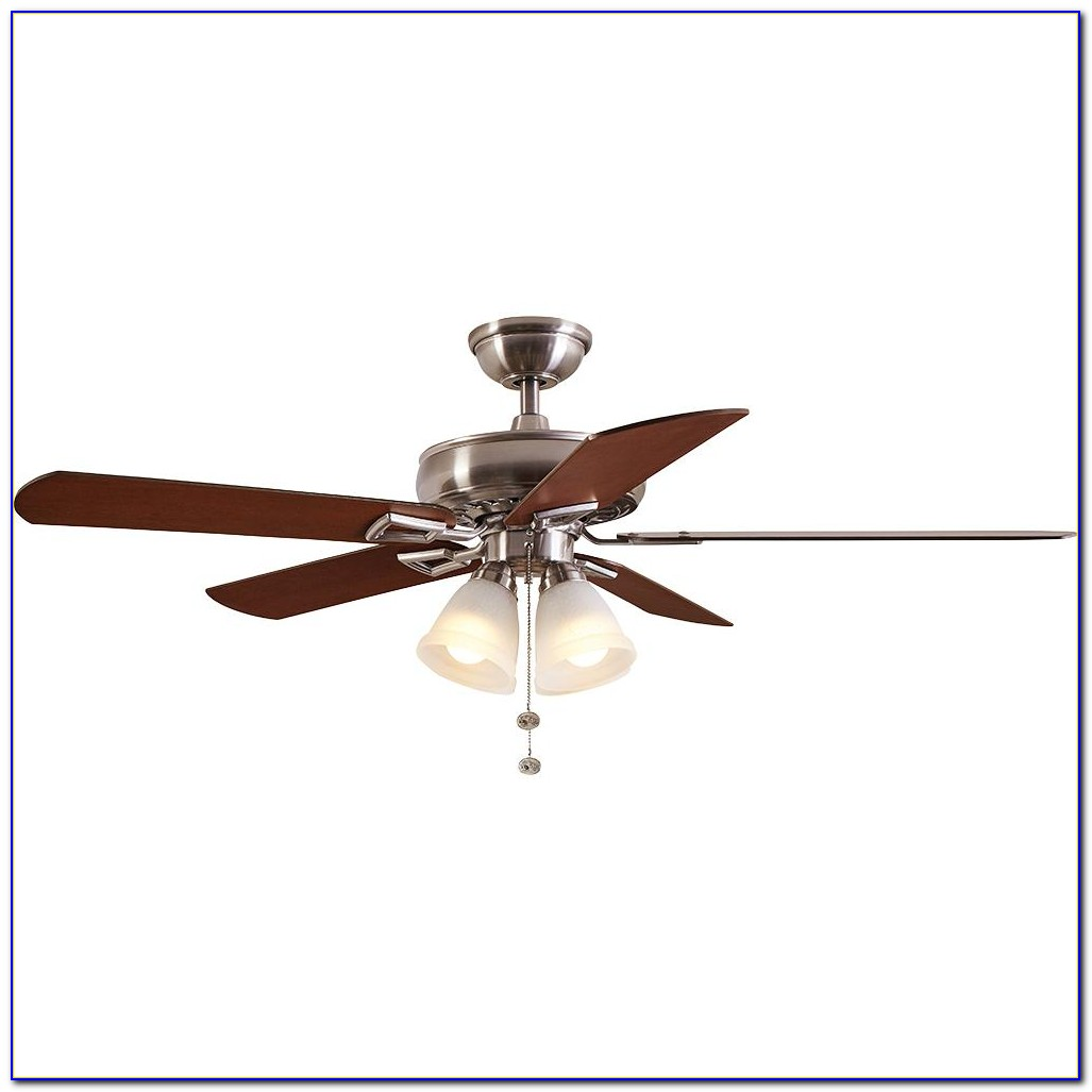 Hampton Bay Mercer Brushed Nickel Ceiling Fan