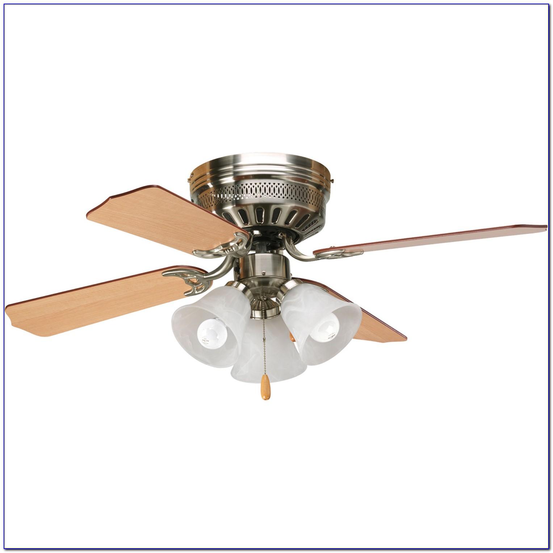 Hugger 52 Brushed Nickel Ceiling Fan