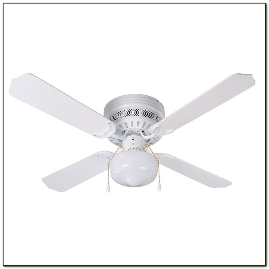 Hugger Flush Mount Ceiling Fans With Lights