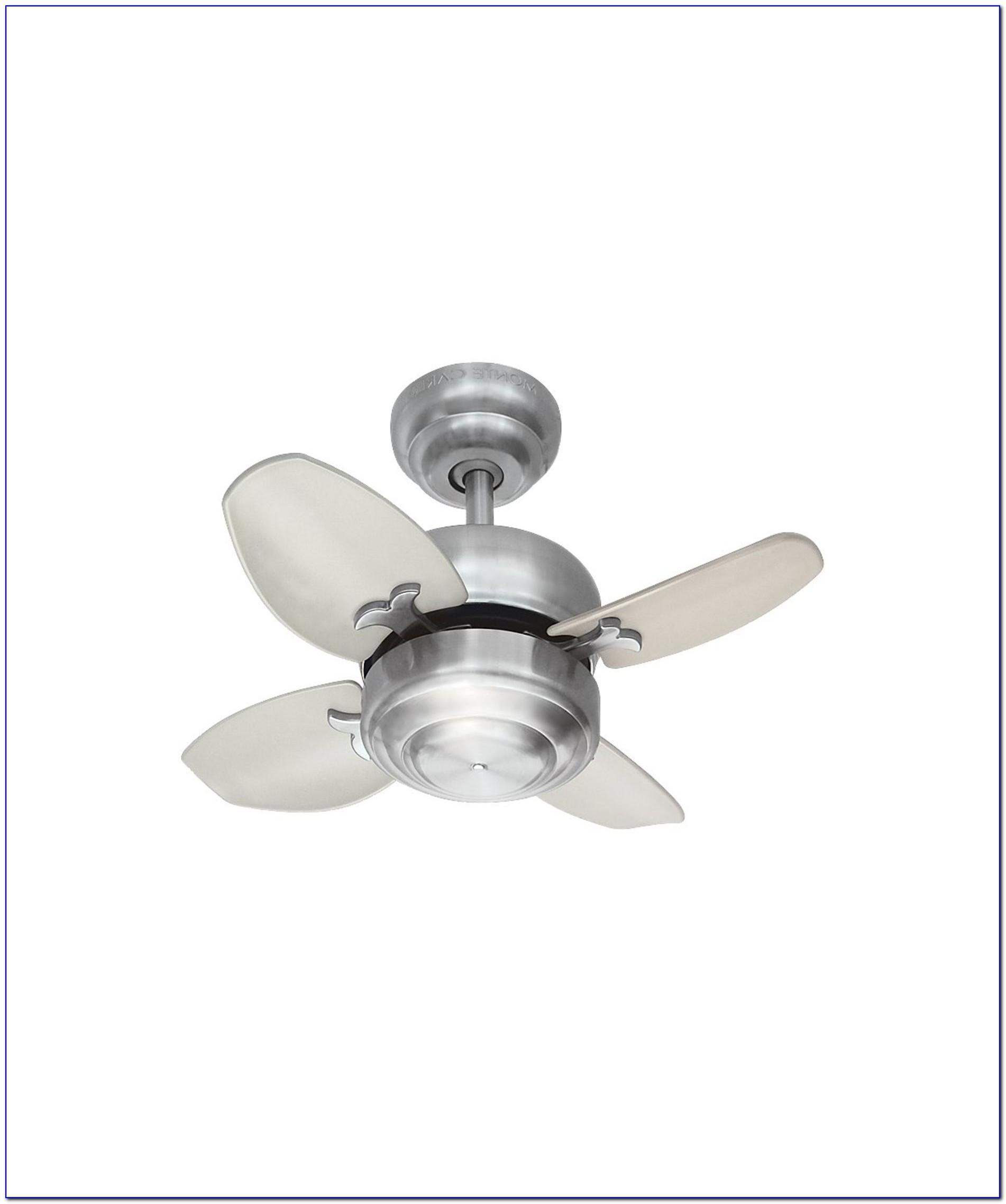 Monte Carlo Mini Ceiling Fan With Light
