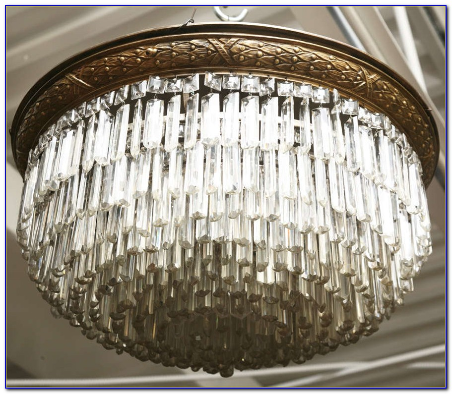 Small Ceiling Mount Crystal Chandelier