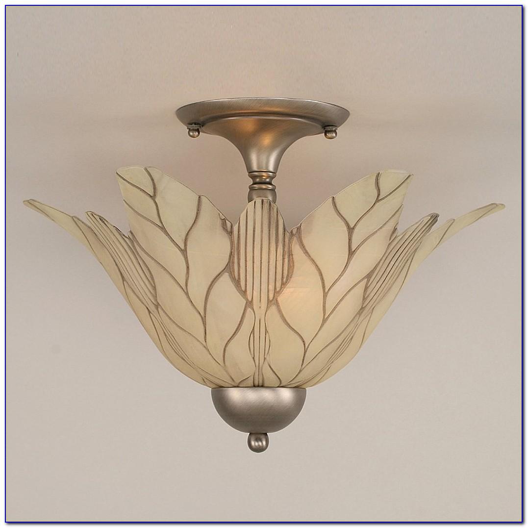 Stained Glass Semi Flush Ceiling Lighting