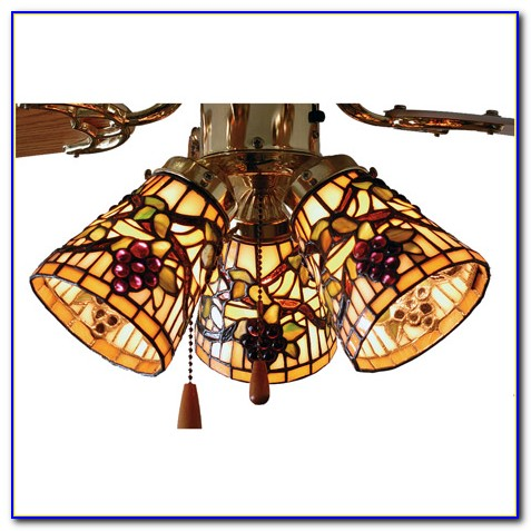 Tiffany Ceiling Fan Light Globes