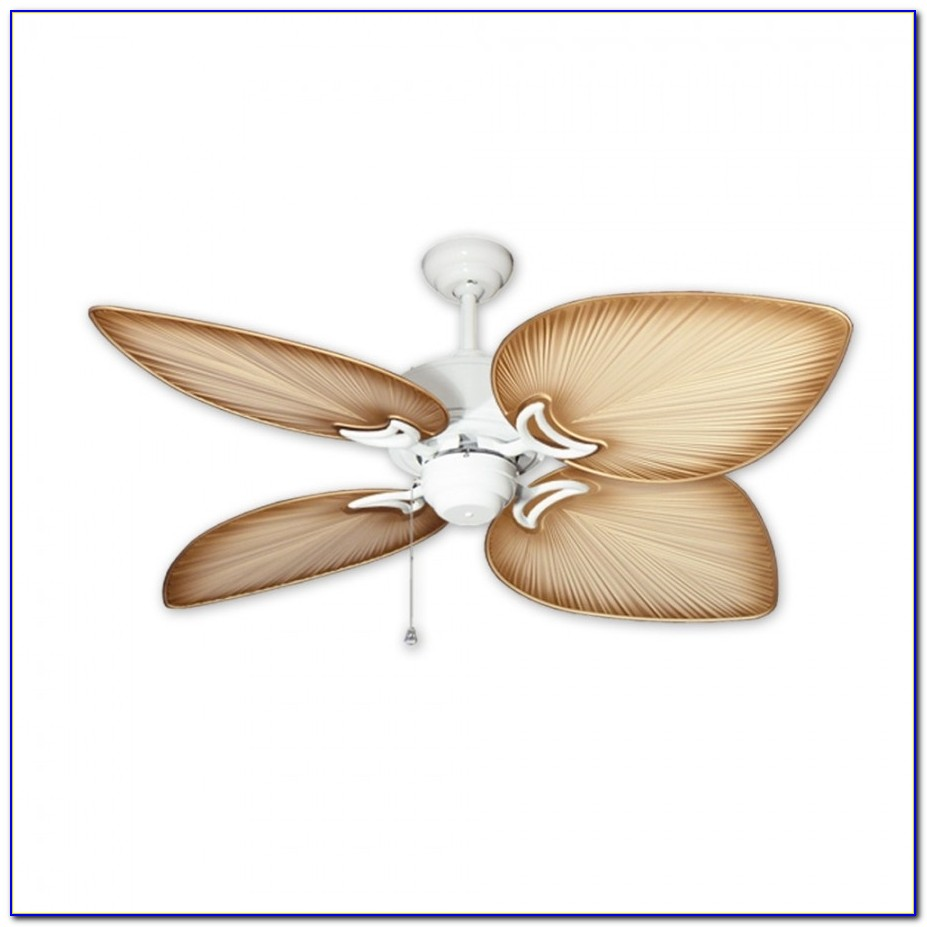 White Tropical Indoor Ceiling Fans