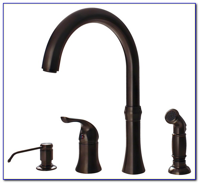 4 Hole Kitchen Faucet Brushed Nickel