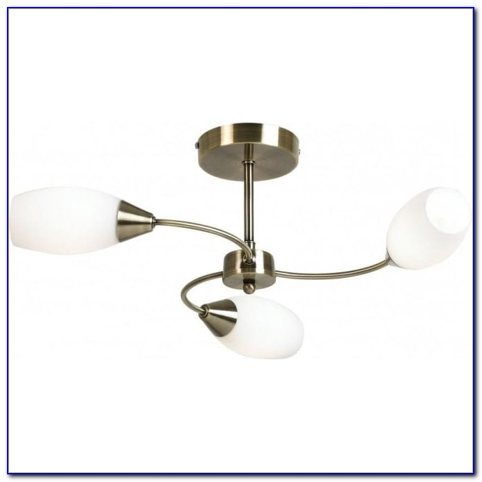 Antique Brass Finish Flush Ceiling Light