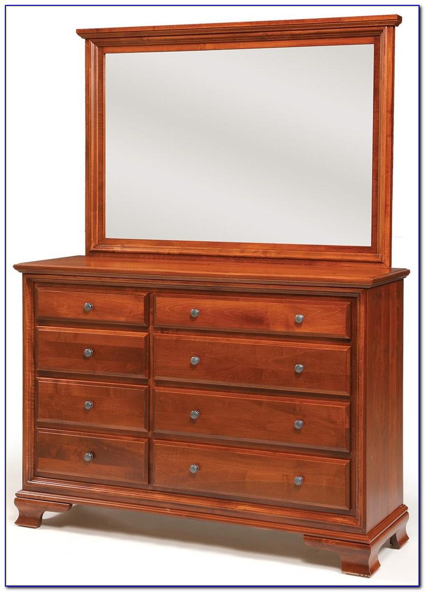 Antique Dresser With Triple Mirror