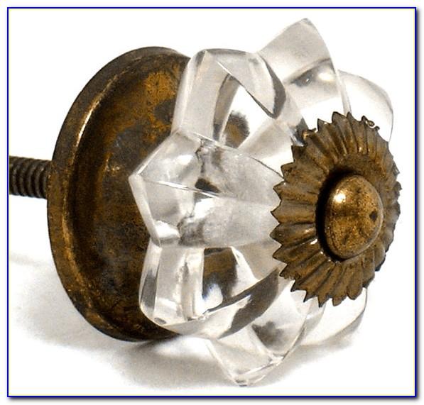 Antique Glass Dresser Knobs