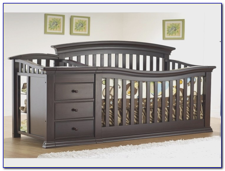 Baby Cribs And Dresser Hutch Combo