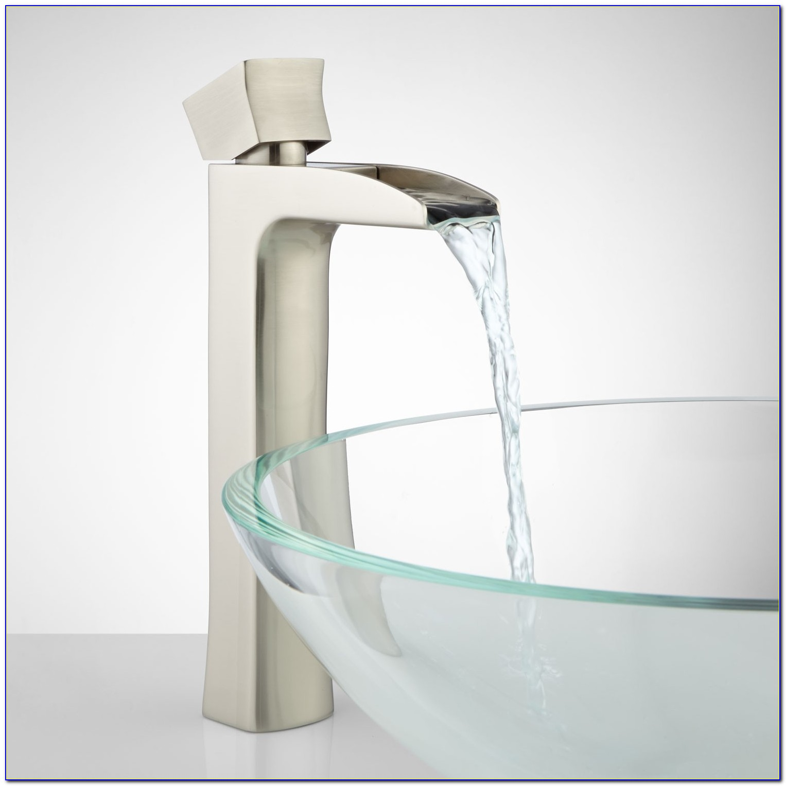 Bathroom Waterfall Faucets For Vessel Sinks