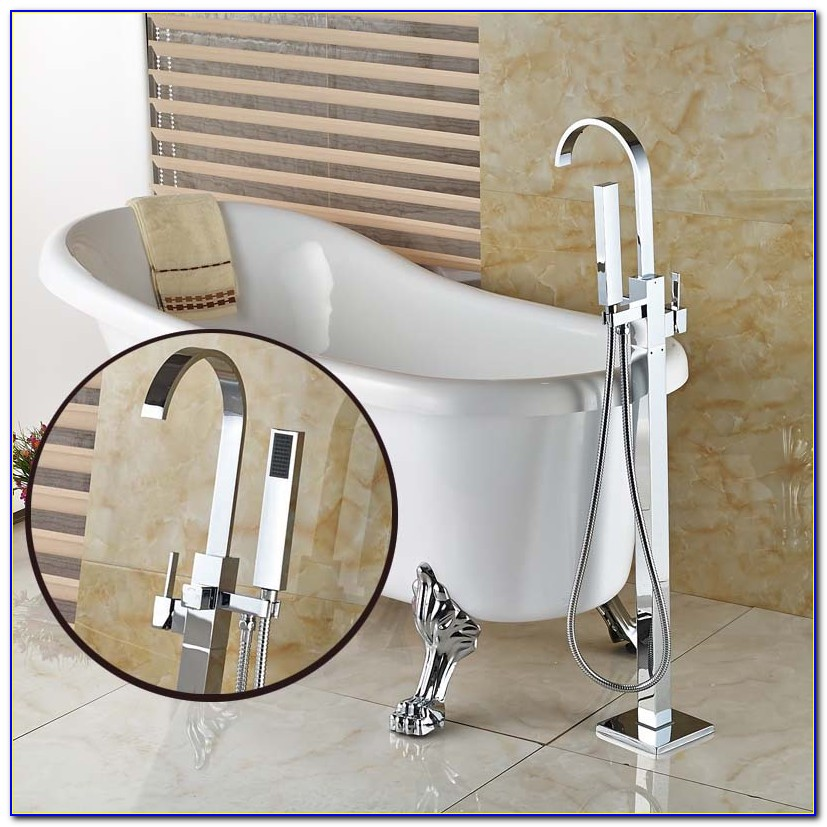 Bathtub Faucet With Handheld Sprayer