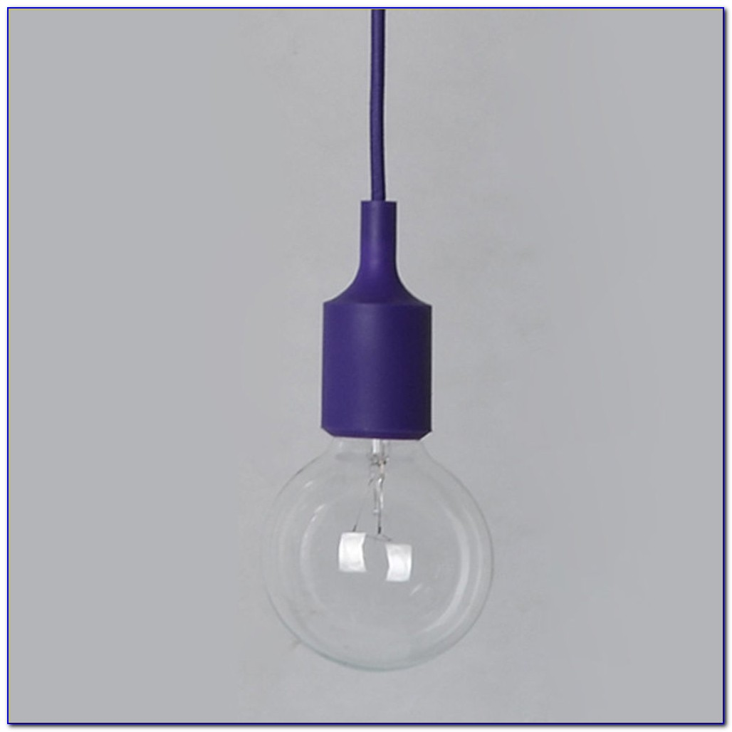 Black Ceiling Light Bulb Holder