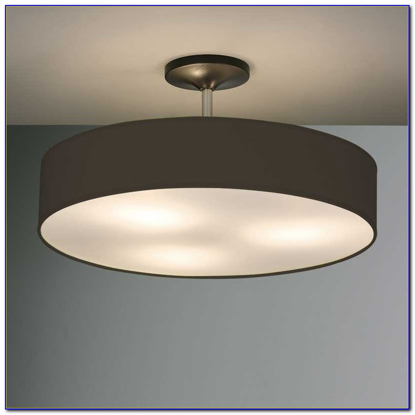 Black Industrial Flush Ceiling Light