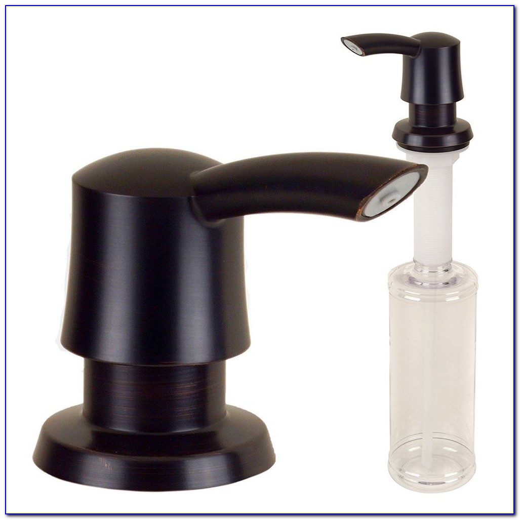 Black Kitchen Faucet With Soap Dispenser