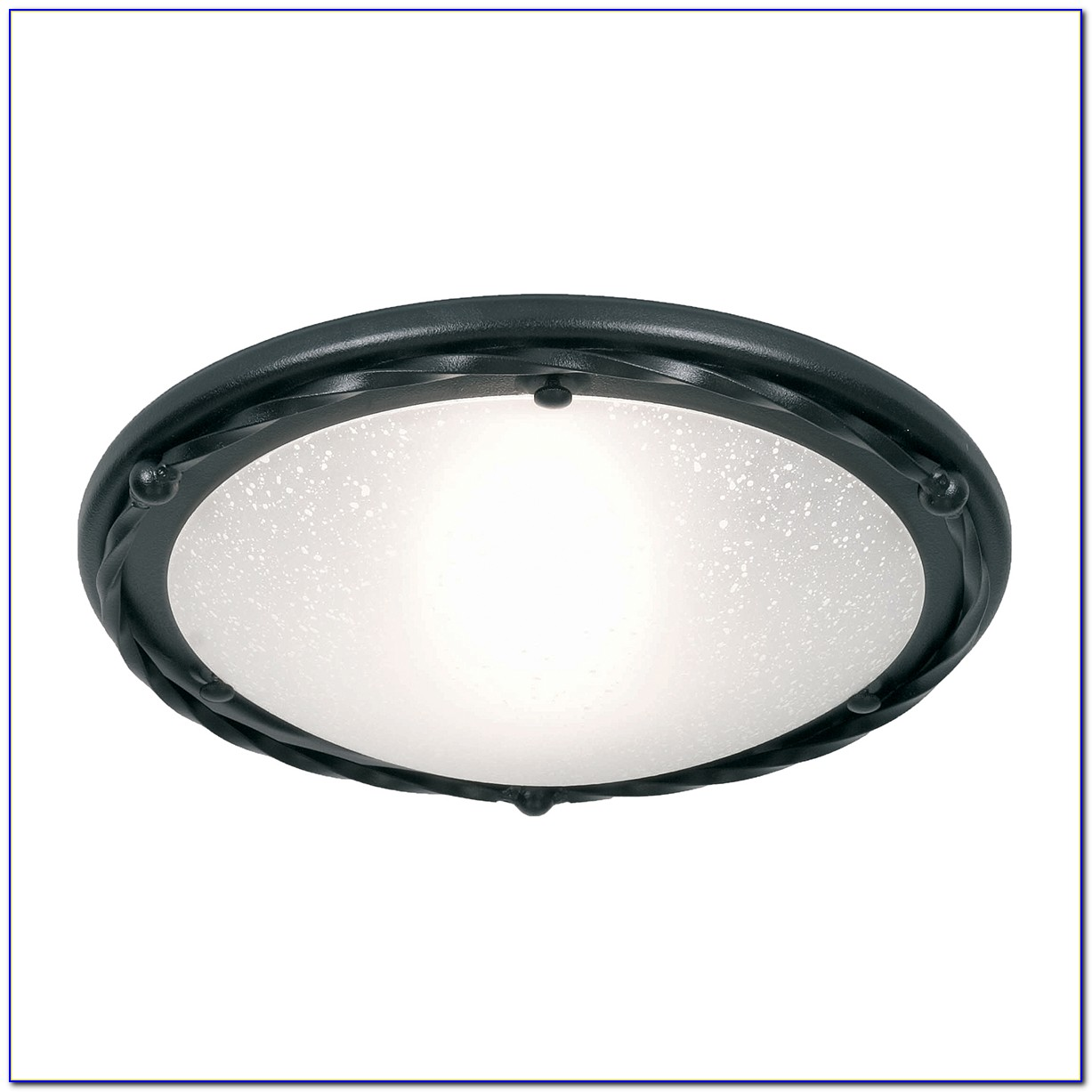 Black Nickel Flush Ceiling Light