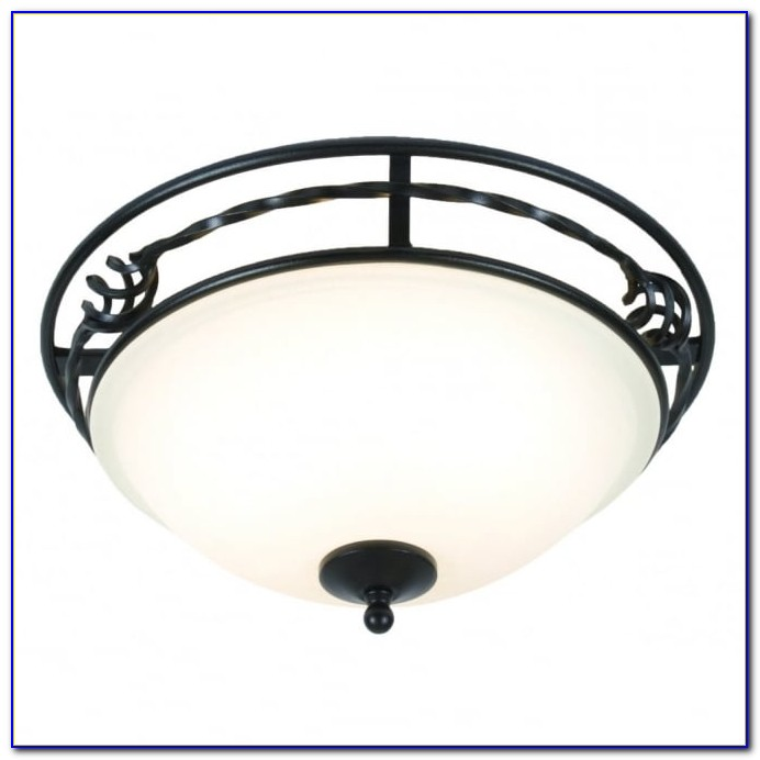 Black Semi Flush Ceiling Light