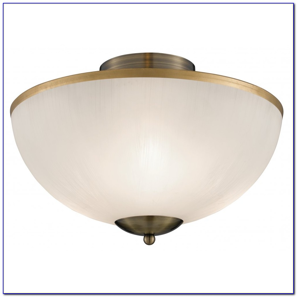 Brass Flush Mount Ceiling Light