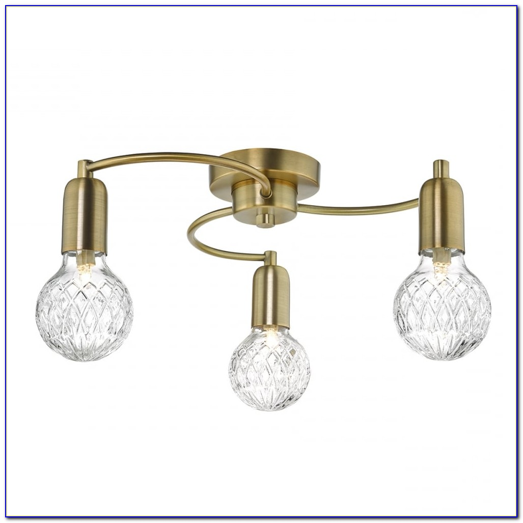 Brass Semi Flush Ceiling Lights Uk