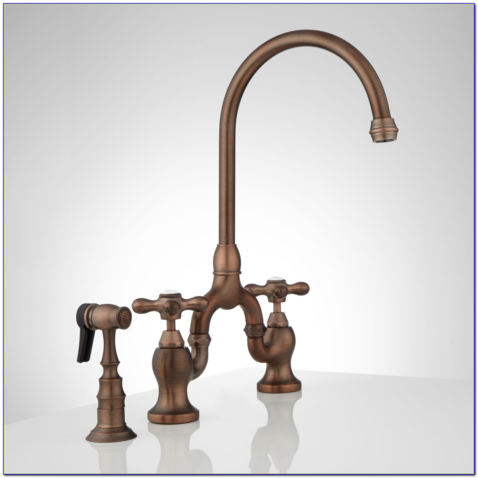 Bridge Kitchen Faucet With Sprayer