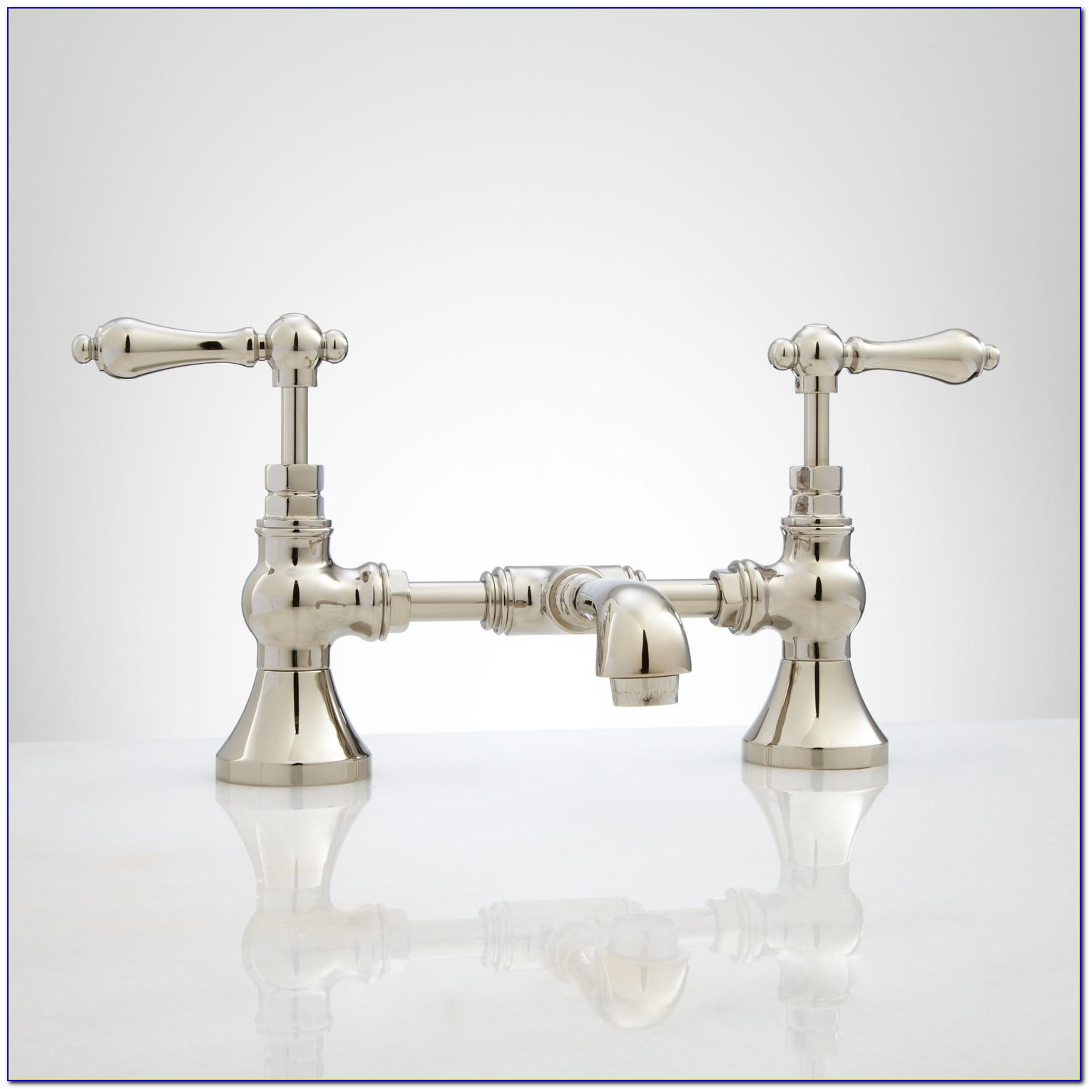 Bridge Style Bathroom Sink Faucet