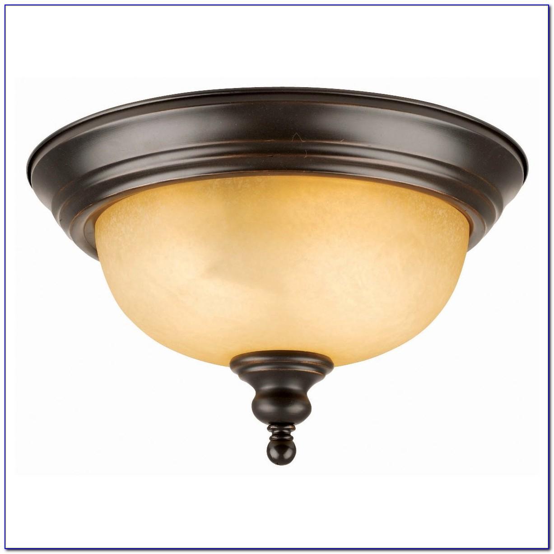 Bronze Flush Mount Ceiling Fan With Light