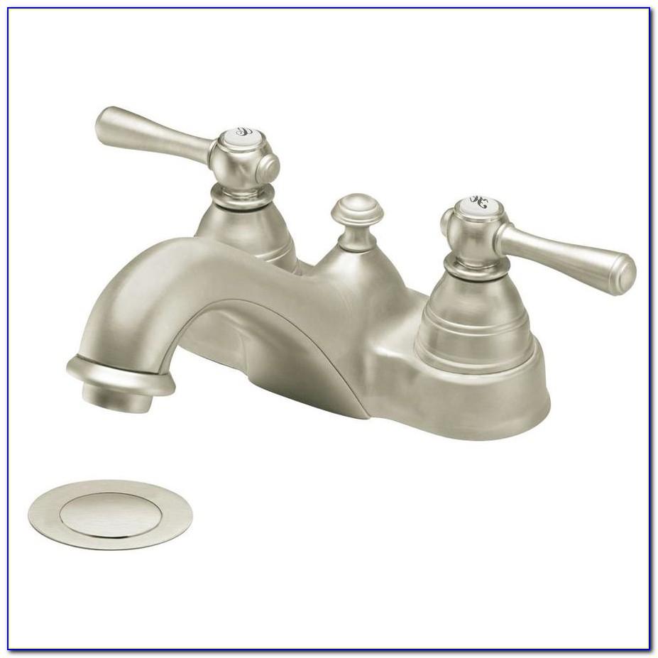 Brushed Nickel Bathroom Faucet 8 Inch