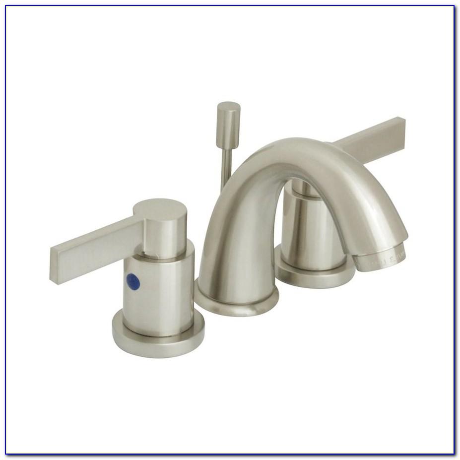 Brushed Nickel Bathroom Faucet Set