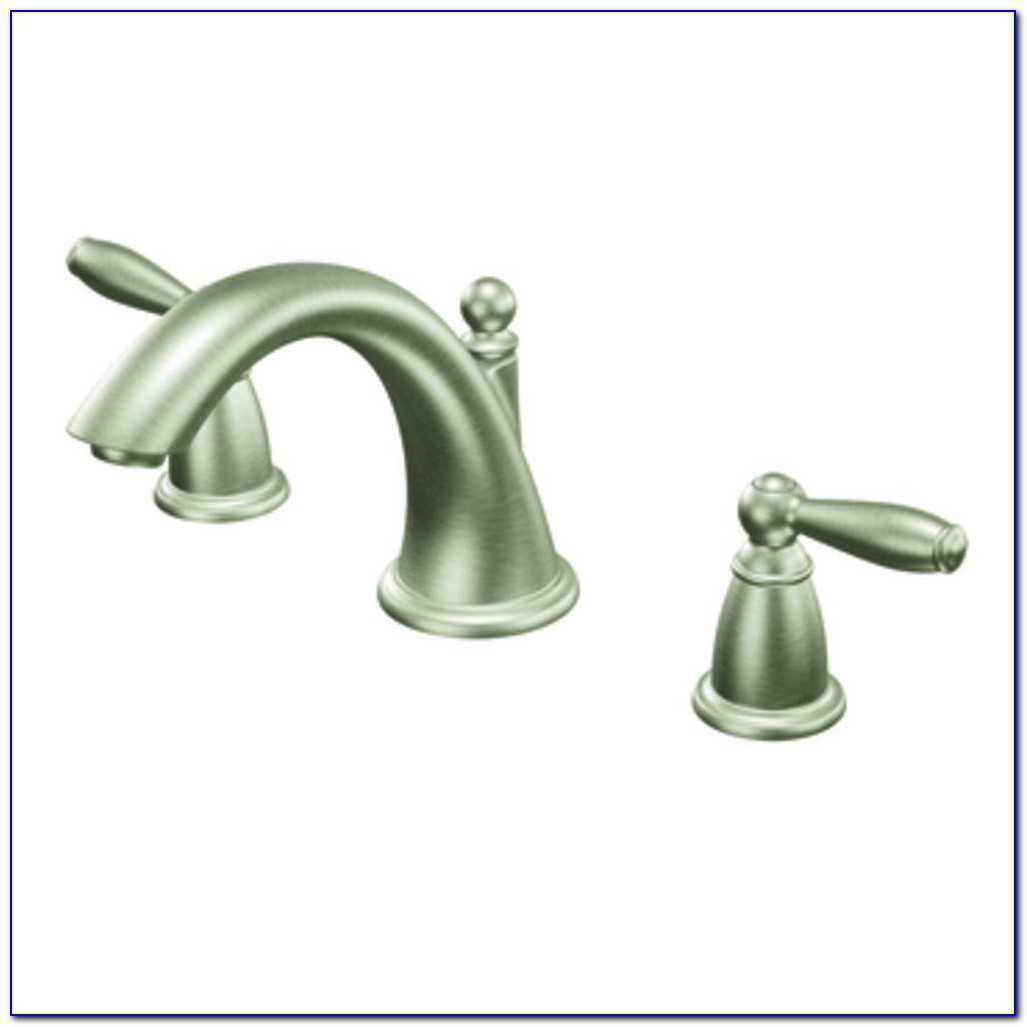 Brushed Nickel Roman Tub Faucet With Hand Shower