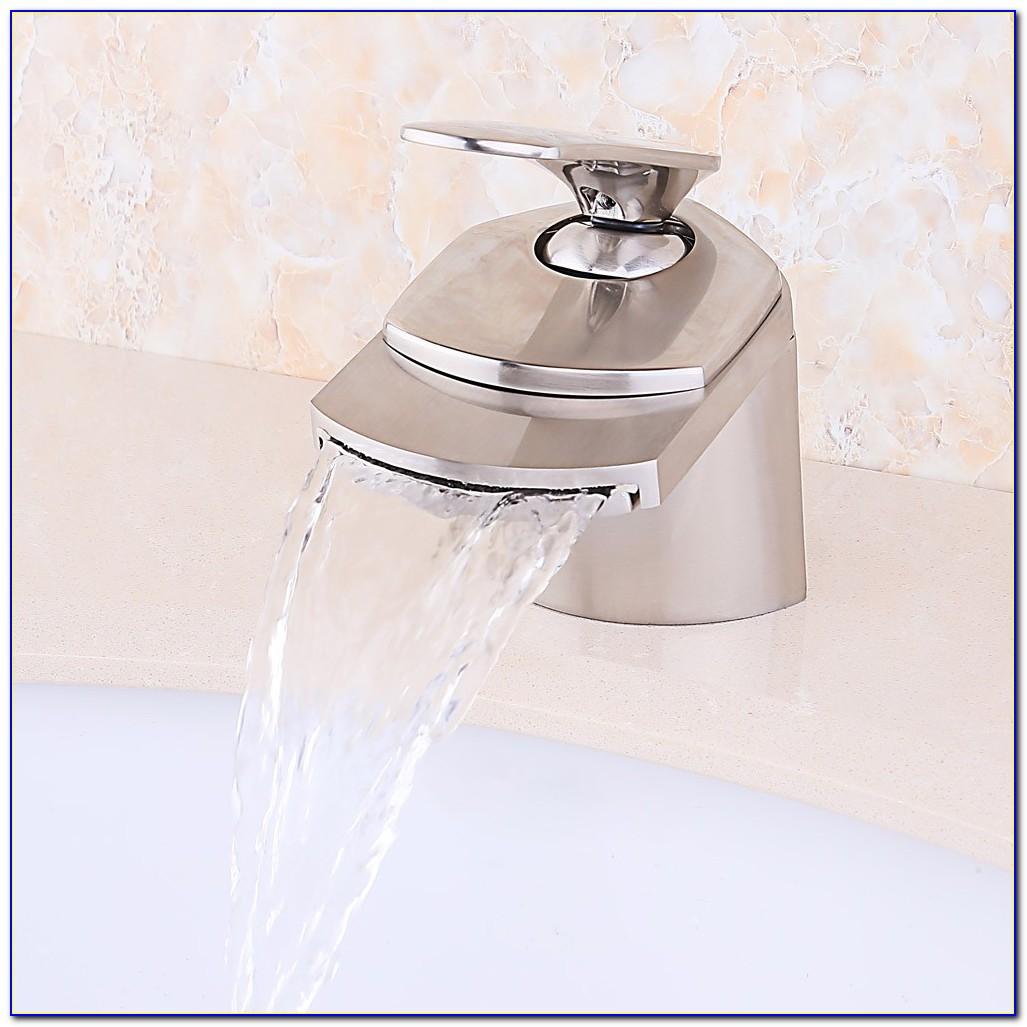 Brushed Nickel Waterfall Bathtub Faucet