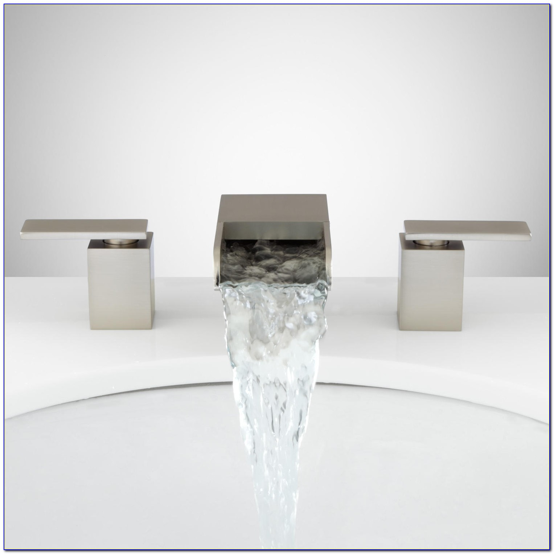 Brushed Nickel Waterfall Sink Faucet
