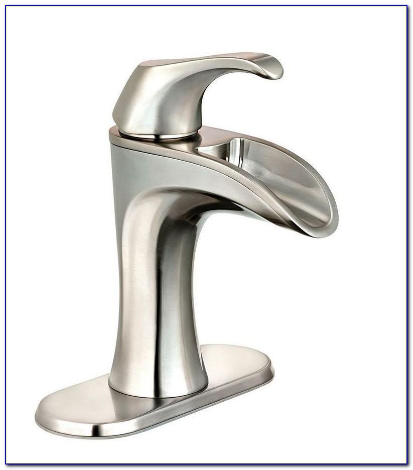 Brushed Nickel Waterfall Vessel Faucet