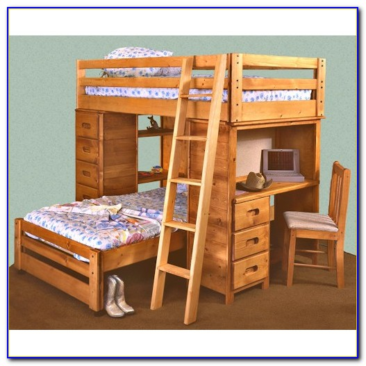 Bunk Beds With Dresser Built In