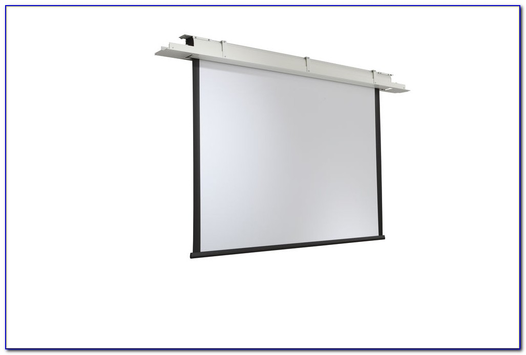 Ceiling Recessed Motorized Projection Screen Installation