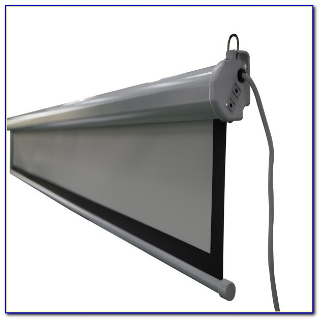 Ceiling Recessed Tab Tensioned Motorized Projection Screen