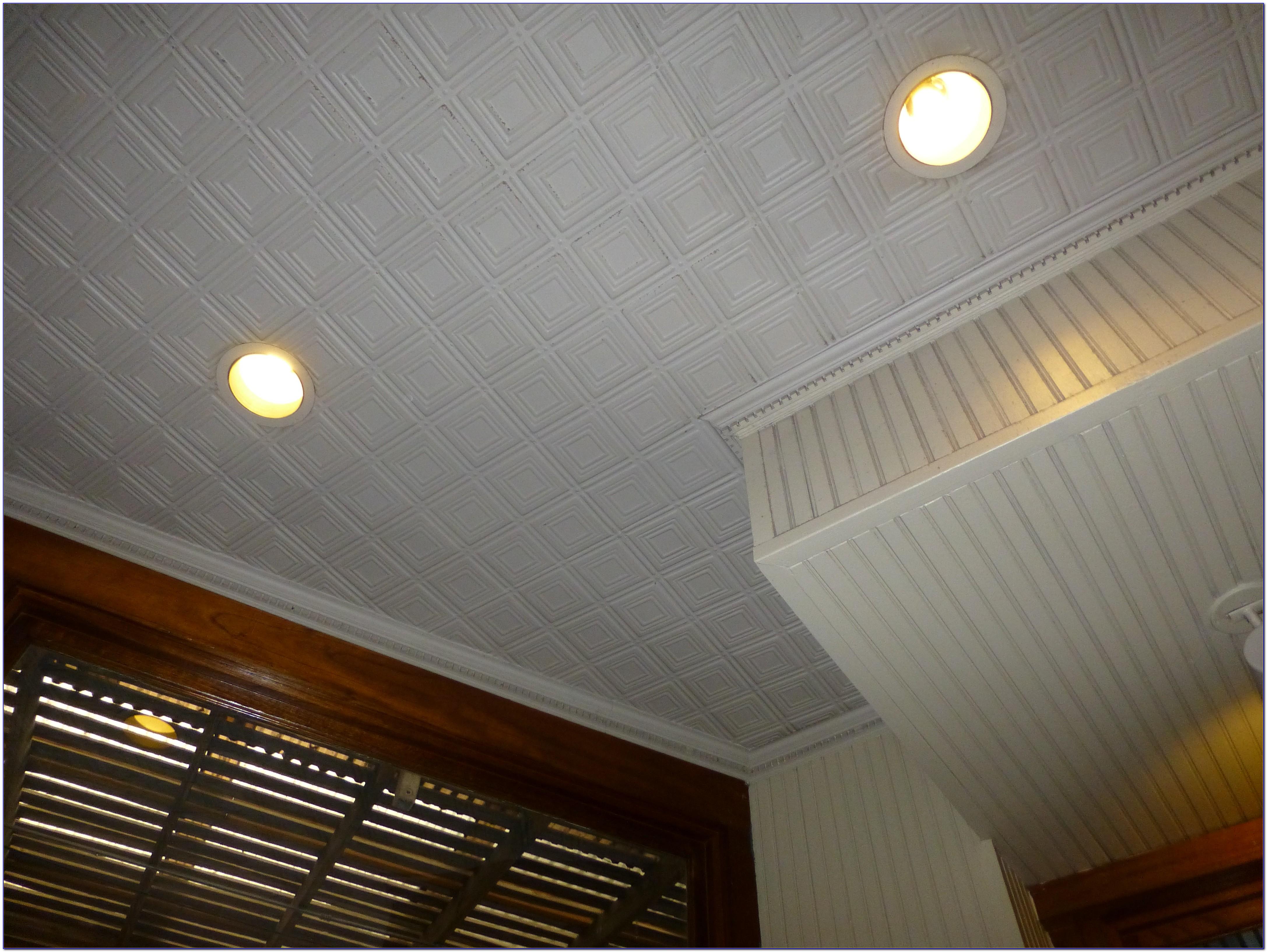 Ceiling Tile Glue Up