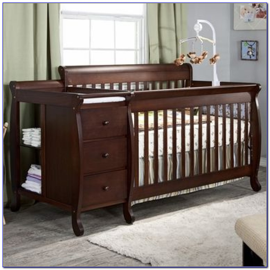 Baby Crib With Changing Table Attached — Recomy Tables : Mounting Pertaining To Baby Crib With Changing Table And Dresser Attached