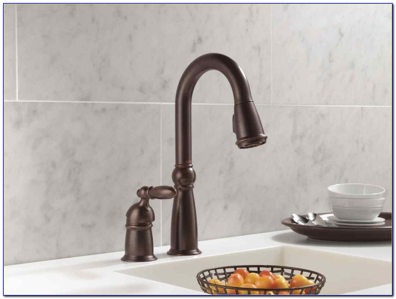Delta Oil Rubbed Bronze Pull Out Kitchen Faucet