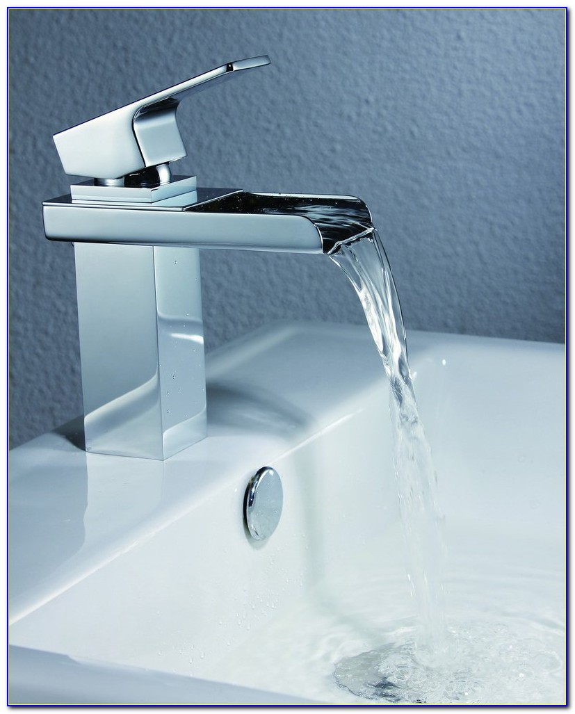 Delta Waterfall Bathroom Sink Faucet