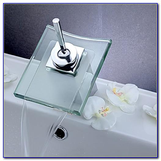 Diego Modern Chrome Waterfall Single Hole Faucet For Bathroom Sinks