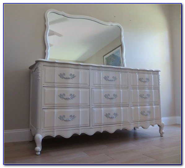 Dixie French Provincial Dresser With Mirror