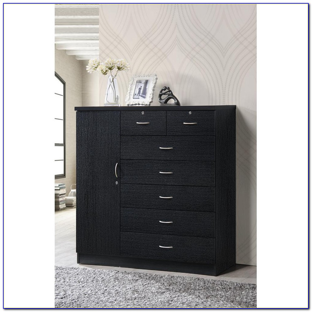 Dresser With Drawers Behind Doors