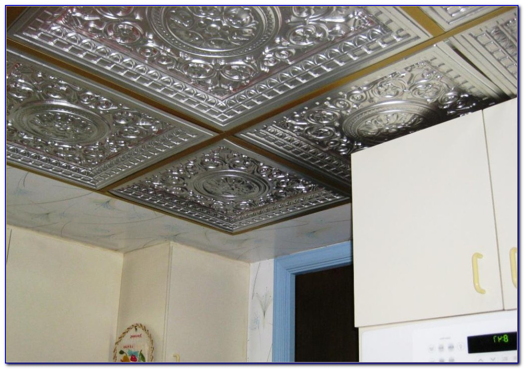 Drop Ceiling Tiles Tin Look